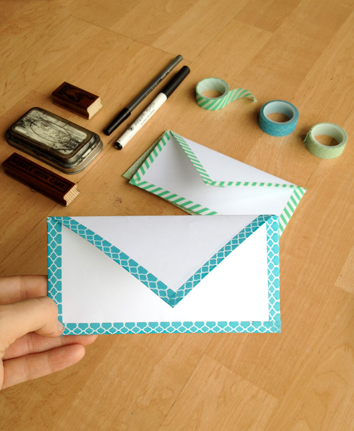 How To Fold an Envelope and Make it Cute With Washi Tape