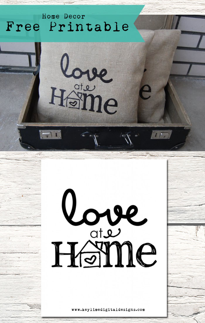 Love at Home Free Printable