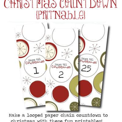 Christmas Countdown Freebie!