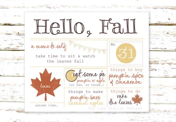 A Cozy Fall Printable