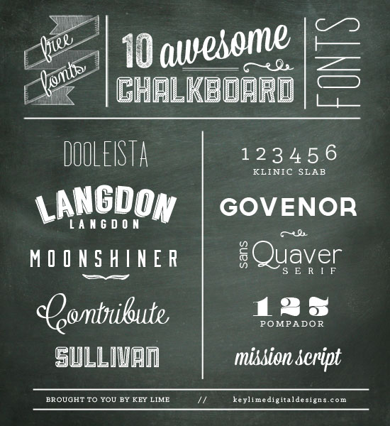 10 Free Chalkboard Fonts