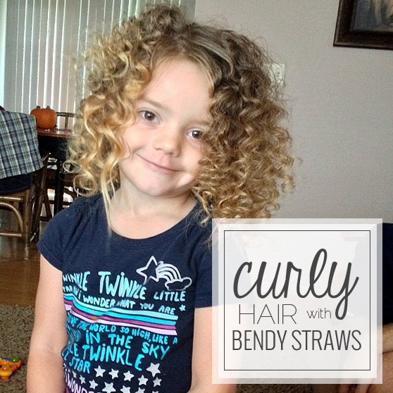 Curly Hair With Bendy Straws
