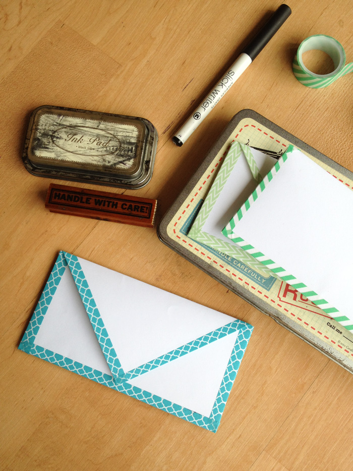DIY Paper envelope with washi tape