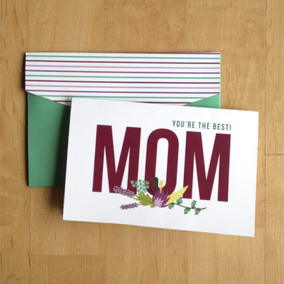 Printable Mothers Day Card + Envelope
