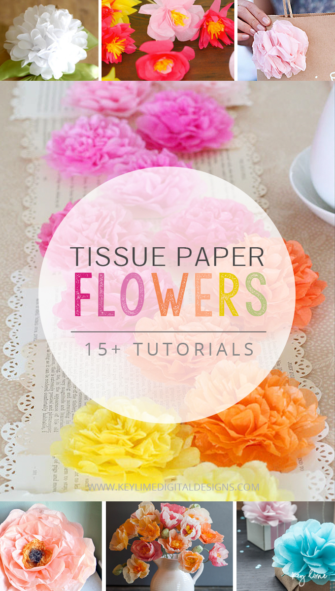 15 Ways to Make Beautiful Tissue Paper Flowers