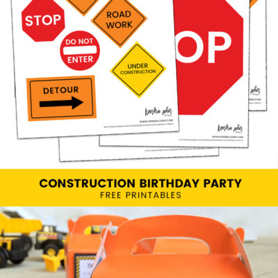 Everything you Need for a Construction Truck Birthday Party [Free Printables]