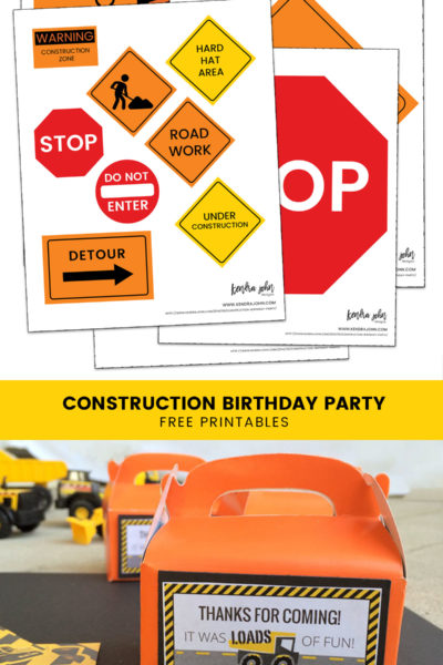 Everything you Need for a Construction Truck Birthday Party