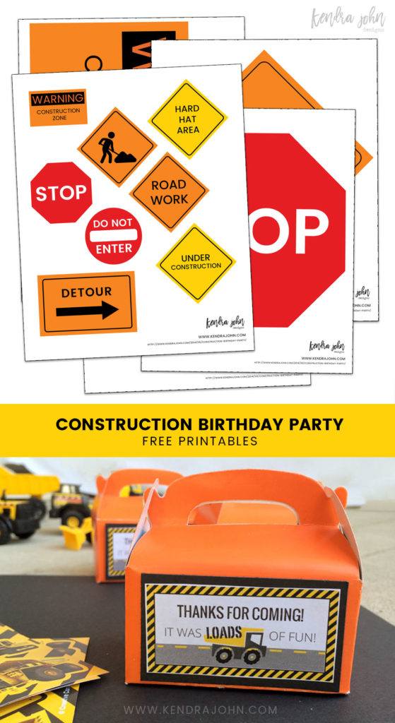 Simple Construction Birthday Party Ideas plus Free Printables!
