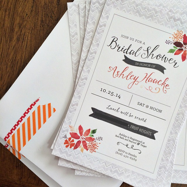 Watercolor Bridal Shower Invite