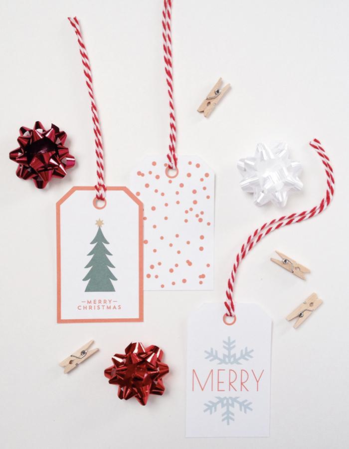 25 Free Christmas Gift Tags
