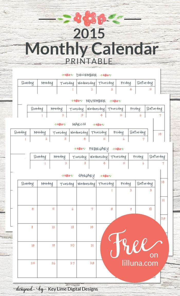 2015 Calendar Freebie