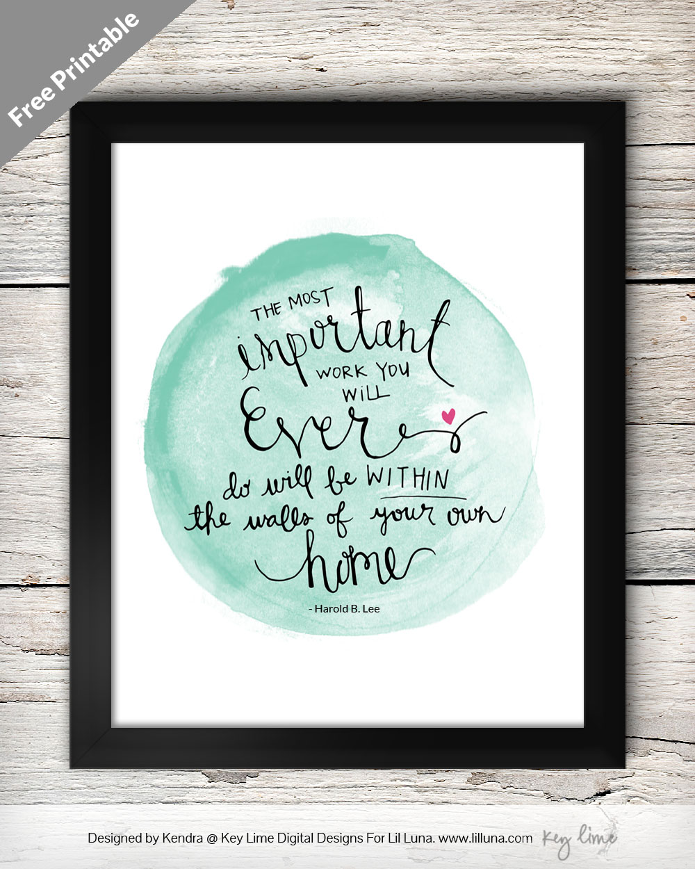 The Most Important Word Free Printable