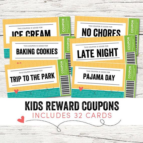 Kids Reward Coupons