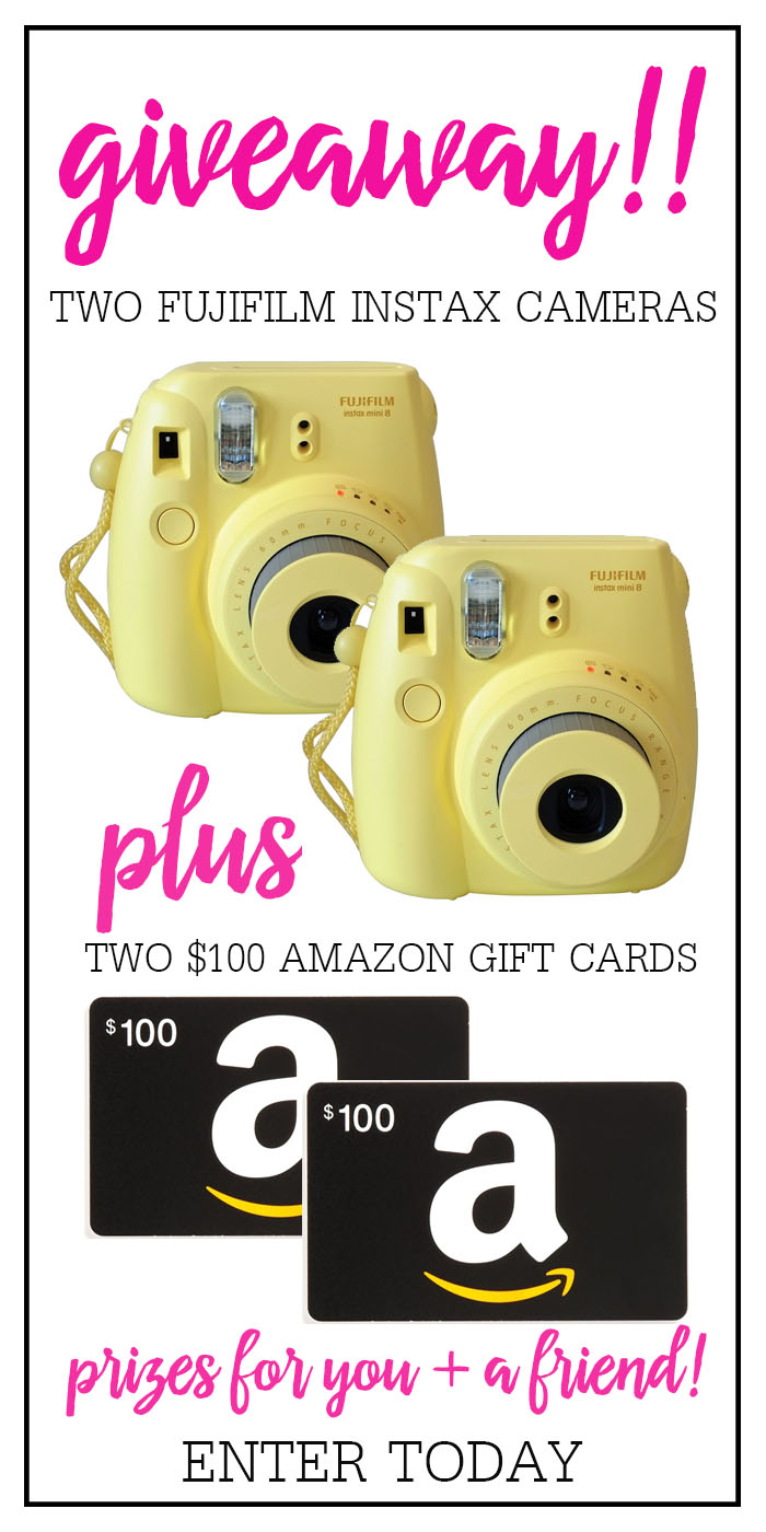 Instax + Amazon Gift Card Giveaway