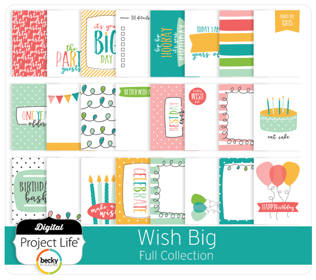 Wish Big Collection for Project Life