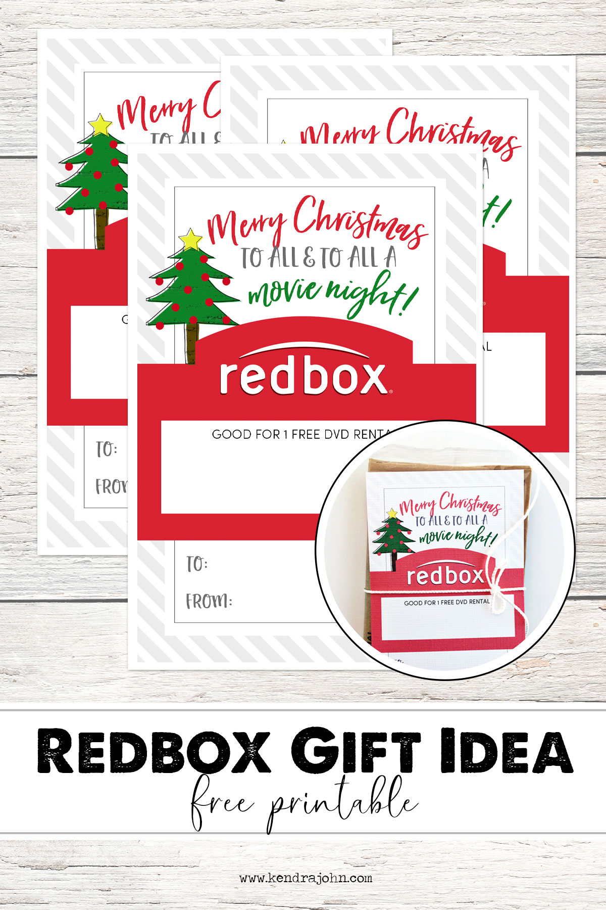 picture relating to Printable Redbox Gift Cards referred to as Redbox Xmas Reward Thought - Main Lime Electronic Layouts