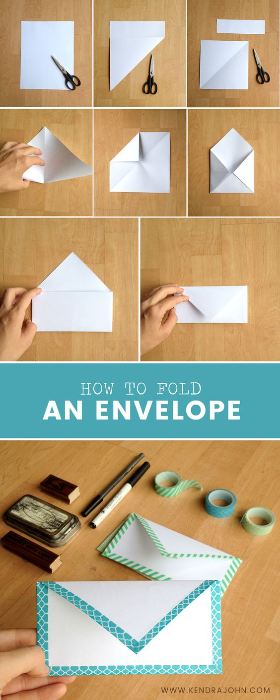 How To Fold A Paper Envelope