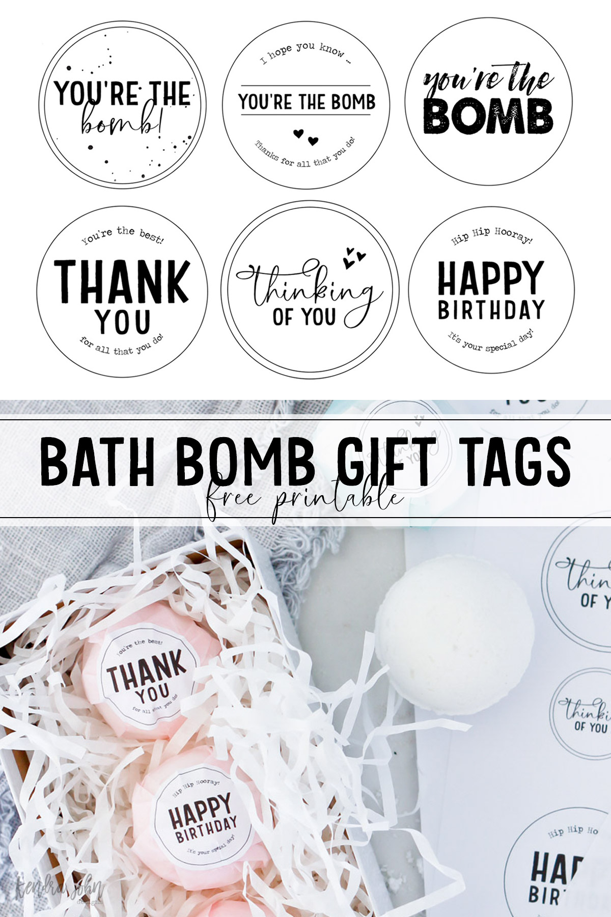 Bath Bomb Gift Tags to be used on homemade bath bombs