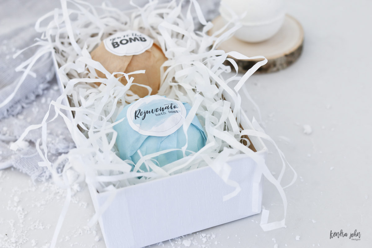 Bath Bombs gifts with tags