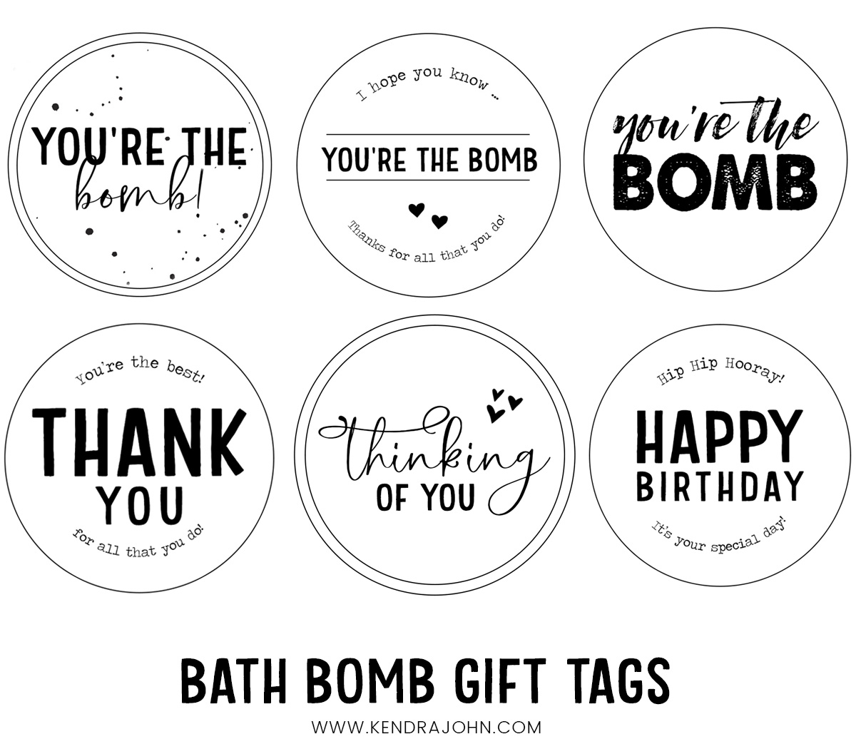 Free Printable Bath Bomb Tag Templates: Free Bath Bomb Gift Tags For All Occasions