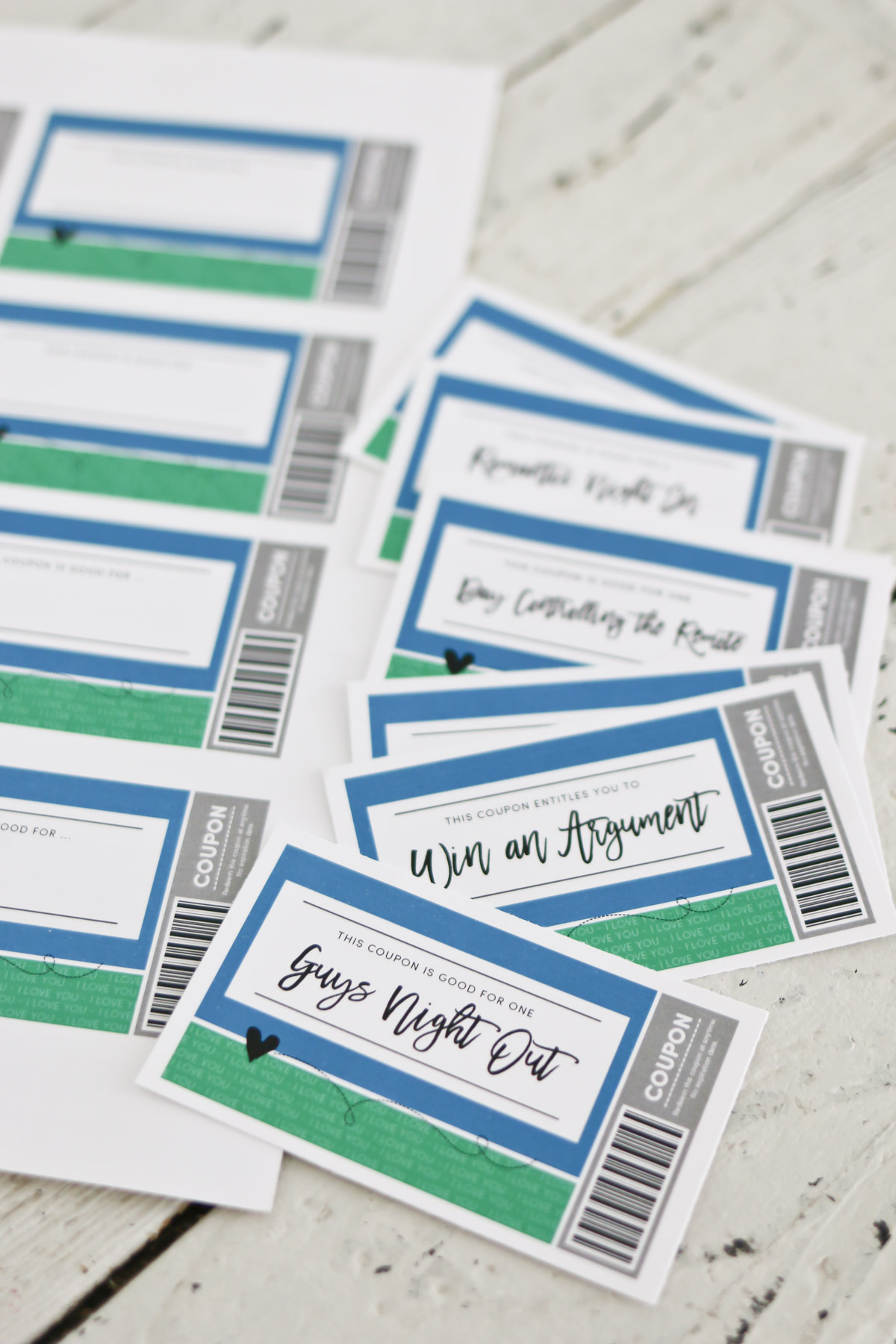 Printable Love Coupons for Him