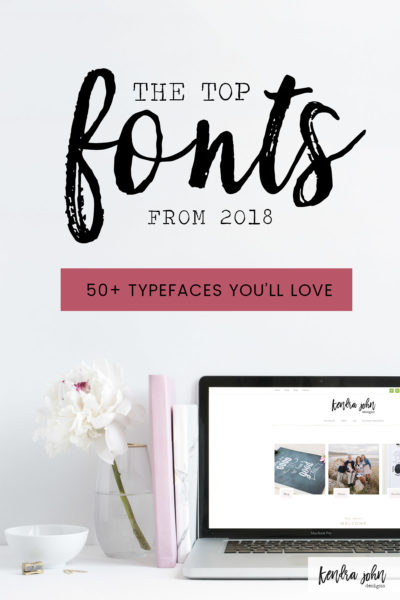 Most Popular Fonts from 2018