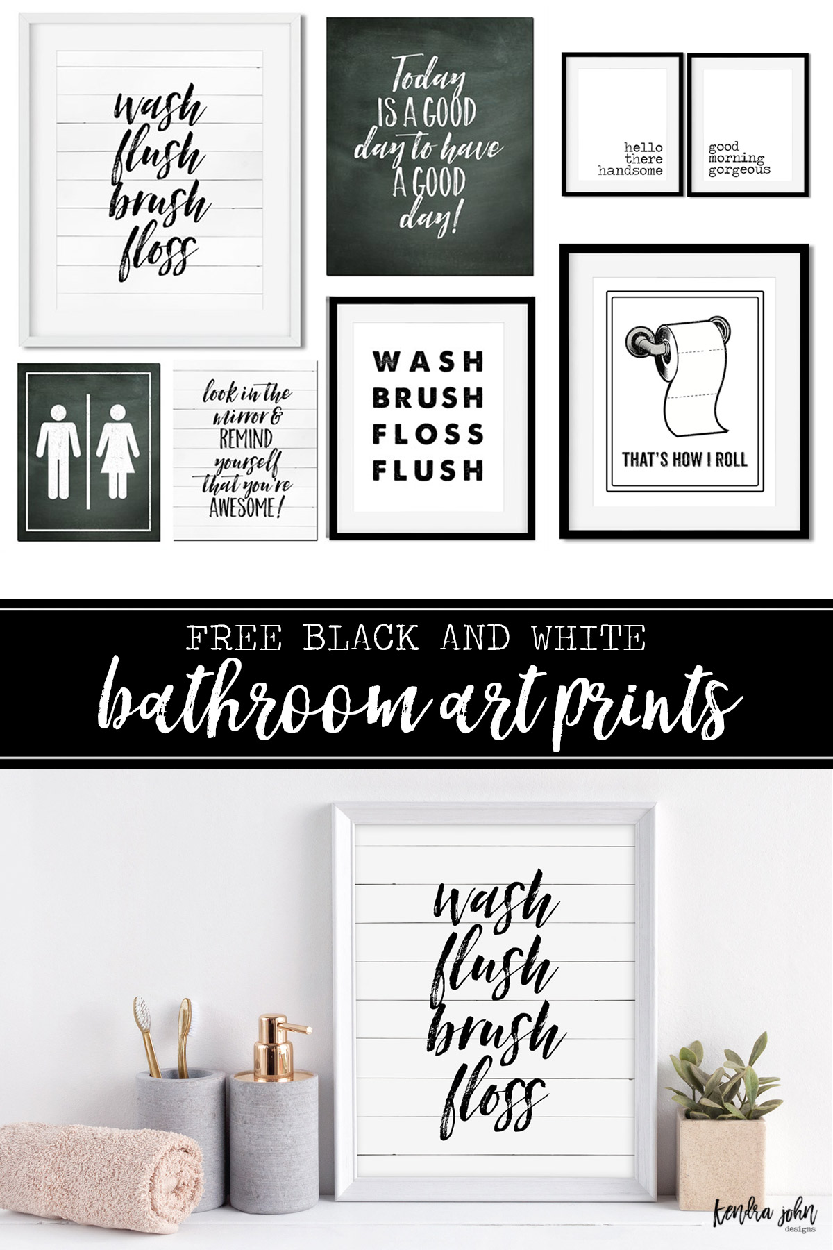 Bathroom Prints Kendra John Designs