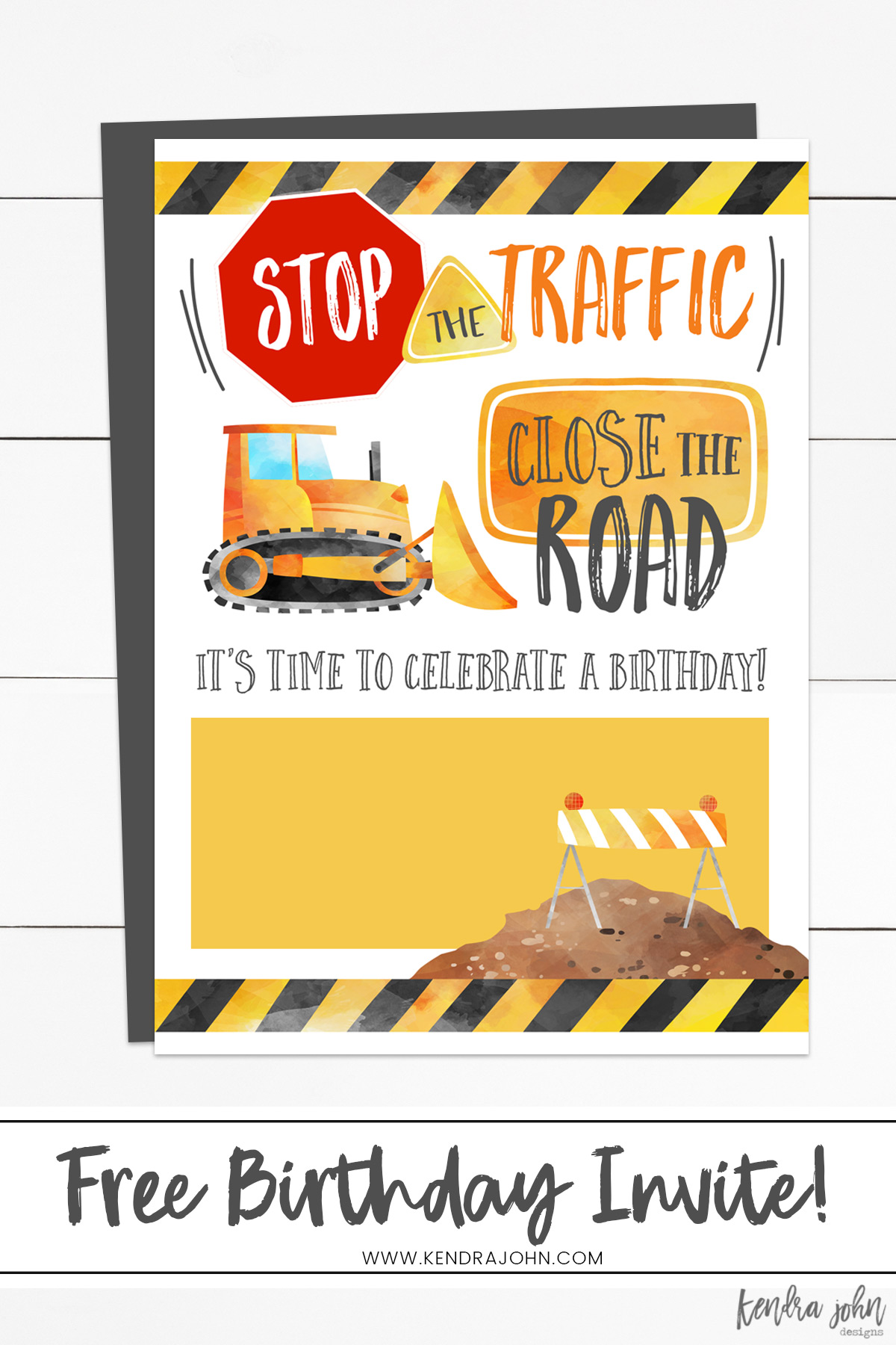image regarding Free Printable Construction Birthday Invitations called Cost-free] Structure Birthday Occasion Invites Kendra John
