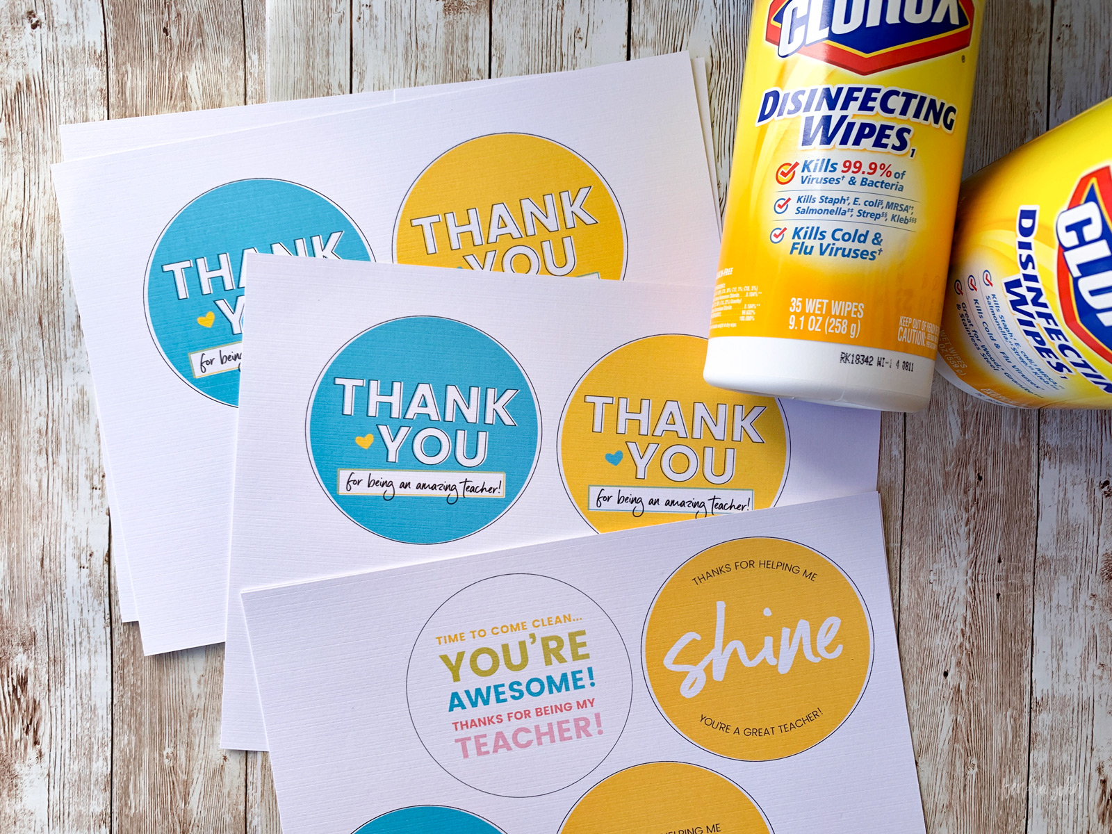 Printables for Disinfecting Wipes