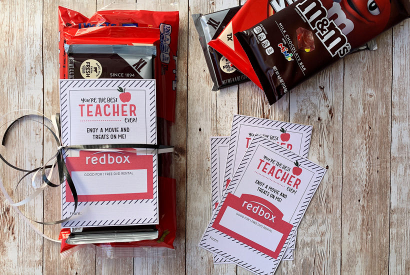 picture relating to Redbox Teacher Appreciation Printable referred to as Totally free Redbox Instructor Appreciation Printable Kendra John Models