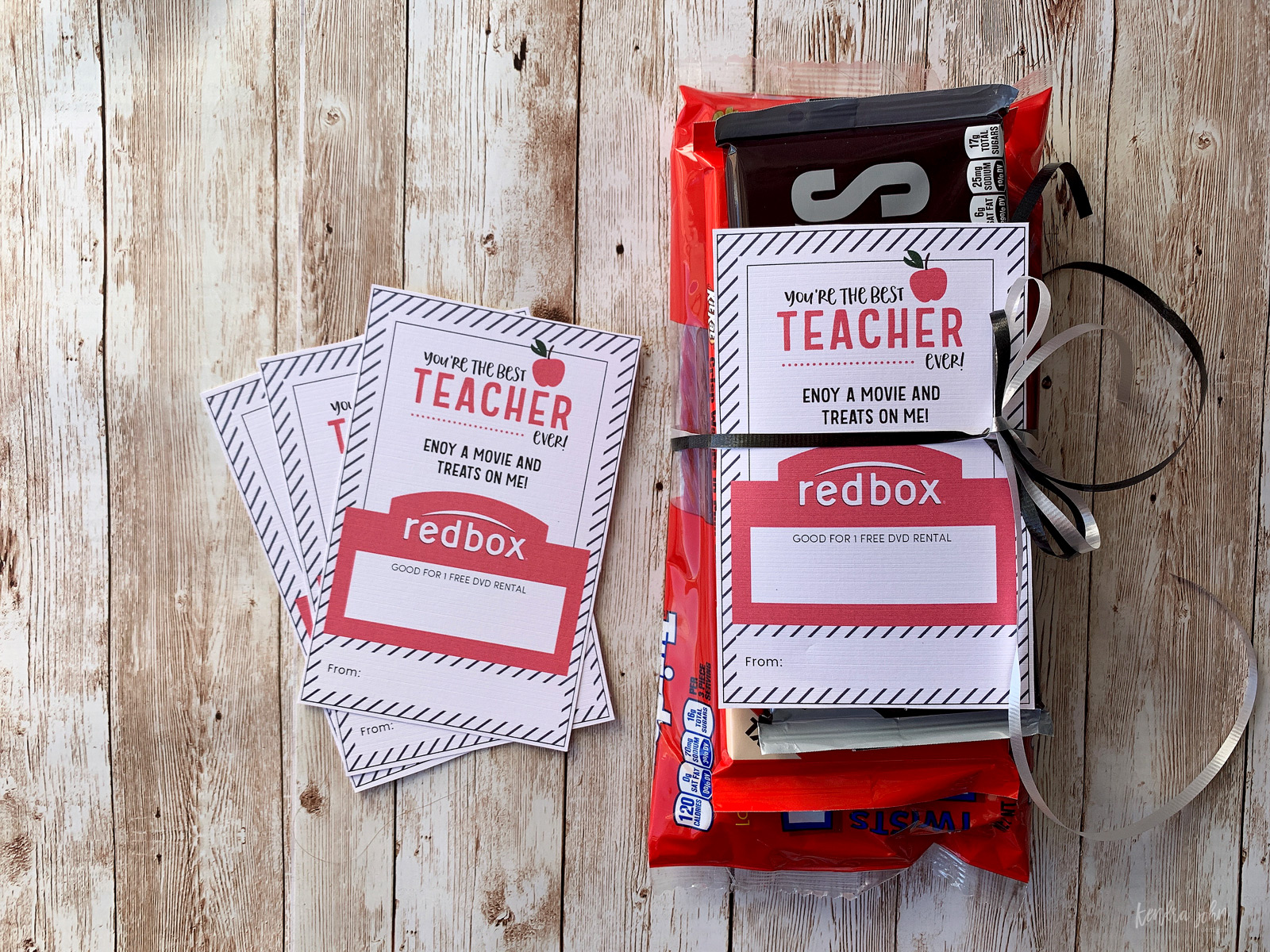 Teacher Appreciation Gift Ideas with Redbox Code and Treats