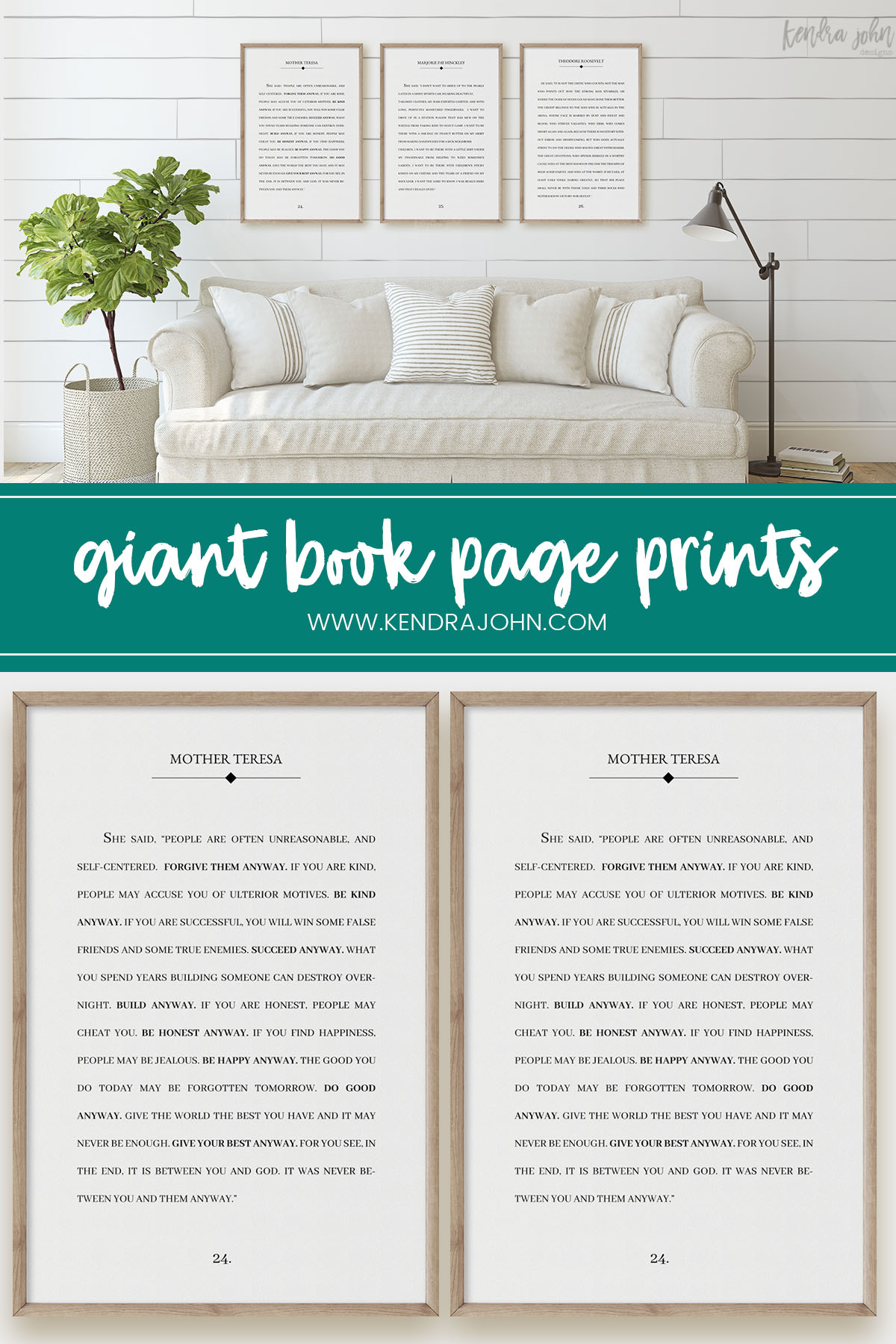 large book page print for home decor