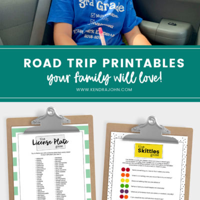 How to Actually Enjoy a Road Trip with Kids! [Free Printables]