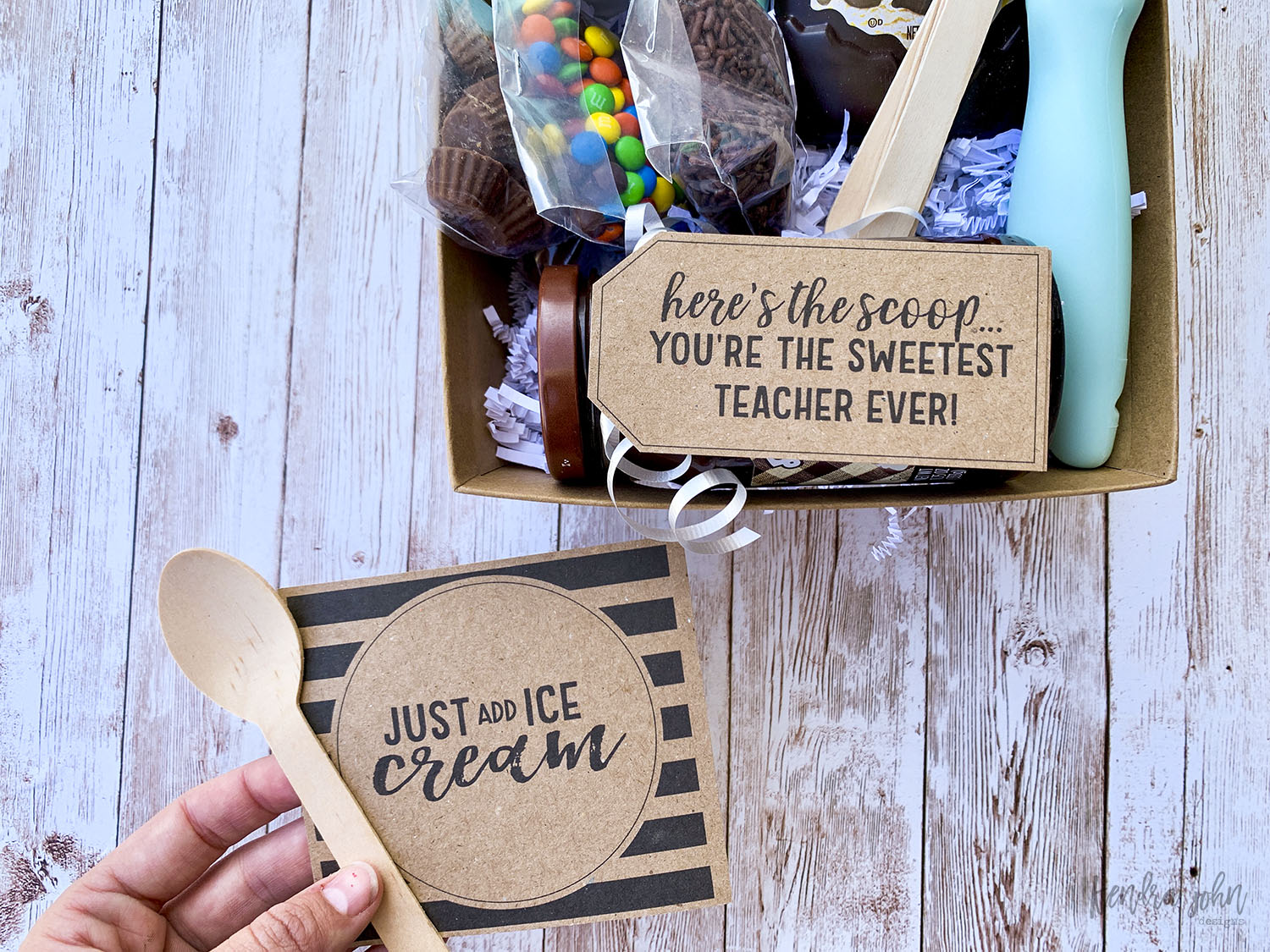 Just Add Ice Cream Gift Tag