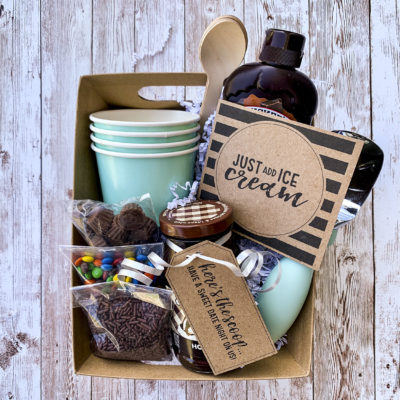 Ice Cream Gift Basket with Free Printables