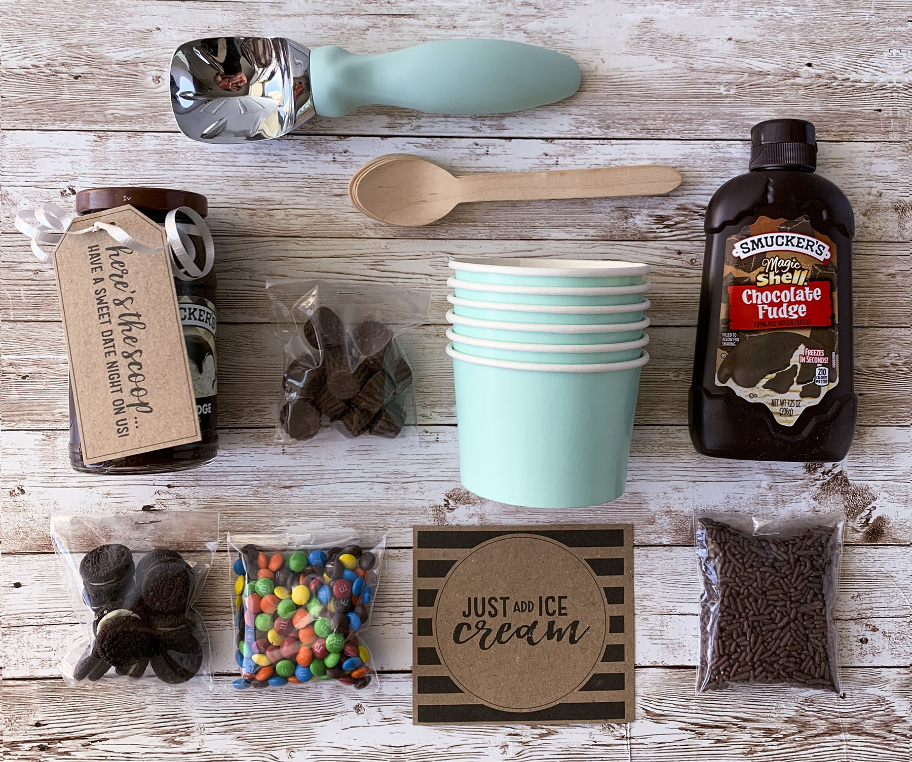 Things to put in an Ice Cream Gift Basket