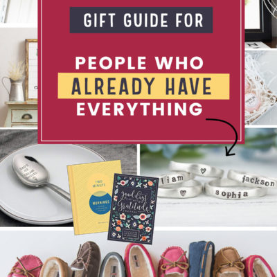 Gift Guide for People Who Already Have Everything