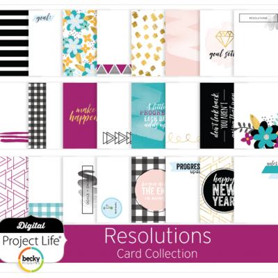 Resolutions Card Collection for Project Life